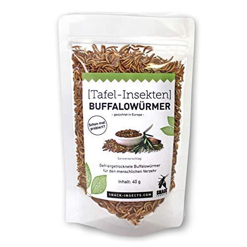 SNACK insects Buffalowürmer essbare Insekten zum Essen, 40 g