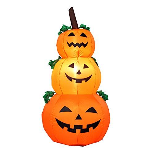 Jackolantern Kostüm - Blanketswarm Decken, aufblasbare Halloween-Kürbis-LED-Lichter, 3 Jack-o-Lantern aufblasbare Kostüm-Dekorationen für Halloween-Requisite, 120 cm