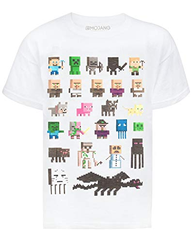 Minecraft Vanilla Underground Sprites Boys White T-Shirt (9-10 Years)