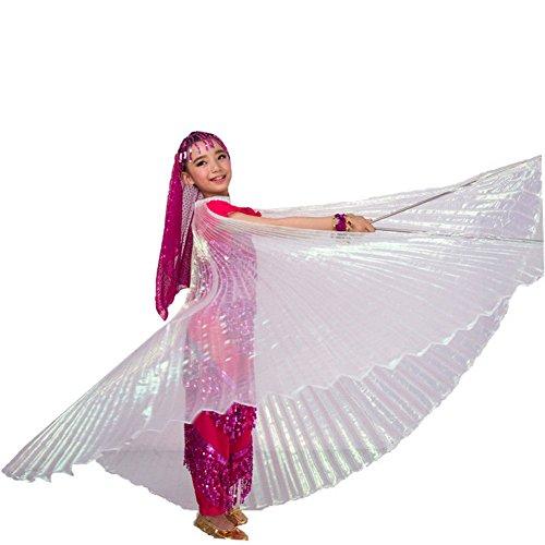 Ägyptisches Bauchtanz-Kostüm in Flügel-Design für Mädchen Gr. Einheitsgröße, weiß (Professionelle Ägyptische Bauchtanz Kostüme)