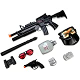 Velocity Toys Swat Super Police Force M16 Friction Toy Gun Combo Play Set W/ Friction Toy Gun