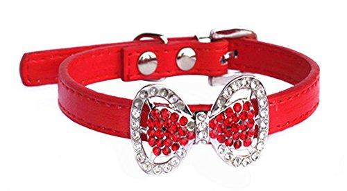 Bling Strass Diamant Schön Hund Katze Halsband Halskette Schmuck Weiblich Welpen Chihuahua Yorkie Mädchen Kostüm Outfits 2 Größen 5 Farben (S, (Rost Weiblich Kostüm)
