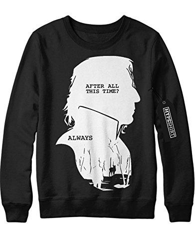 Sweatshirt Harry Potter Severus Snape Alter All This Time? White Always C999939 Schwarz (Kostüm Harry Snape Potter)