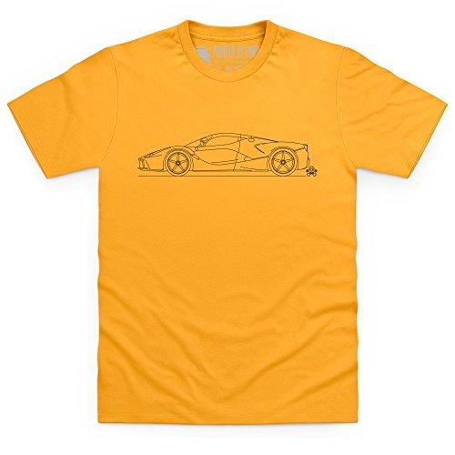 Black Horse Super Car T-Shirt, Herren Gelb