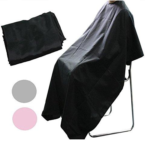 Friseurkutte zum Haareschneiden beim Friseur, Friseurbedarf, Unisex, Salon-Gewand, Schwarz (Kunststoff-gewand)