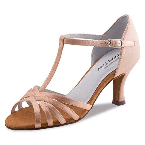 Anna Kern - Damen Tanzschuhe 470-60 - Satin Hautfarben - 6 cm [UK 4.5]