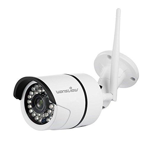 Wansview Wlan IP Kamera 1080P/ 2 Mega Pixel HD Sicherheitskamera für Außen / LAN & Wlan Verbindung / Outdoor IP66 wasserdichte Netzwerkkamera, Infrarot Nachtsicht, deutsche App/Anleitung W2 (Weiß) Kugel-kamera 1080p