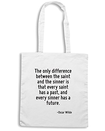 Cotton Island - Borsa Shopping CIT0217 The only difference between the saint., Taglia Capacita 10 litri