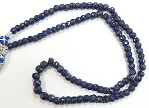 Naturale gemma pietra blu zaffiro sfaccettato collana di perline regolabile completo top quality 43,2cm da 5a 6mm