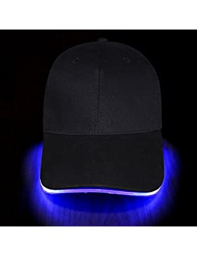 Fashion&Cool Gorra Luminosa LED para Deportes, Fiestas, Accesorio Fashion / Ajustable/ Talla Unica (Baterías incluidas...