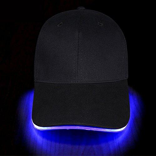 LED Hut Baseball Kappe Reise Partei Käppi hut glitzer für Männer Frauen Junge und Mädchen kommen mit Batterien von Fashion&Cool (Blau)