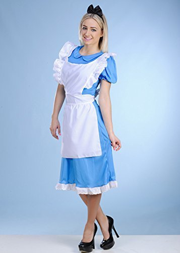 Lange Womens-Alice im Wunderland Style Kostüm XXL (UK ()