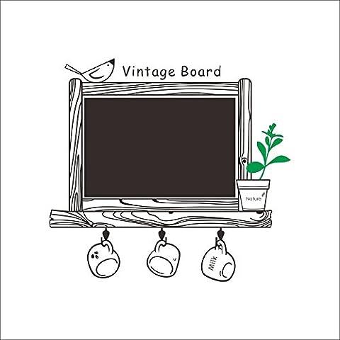 MFEIR® Vintage Board Lavagna rimosso vinile Lavagna adesiva da parete per la camera dei bambini decorazione per la casa decorazioni da cucina