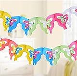 UabpT Attraktives Design Geburtstag Party Papier Pull Blumen Banner Geburtstag Party Hintergrund anziehen (Schmetterling)