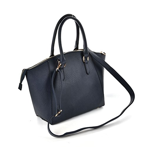 Premium Leather, Borsa a mano donna Large Navy blue