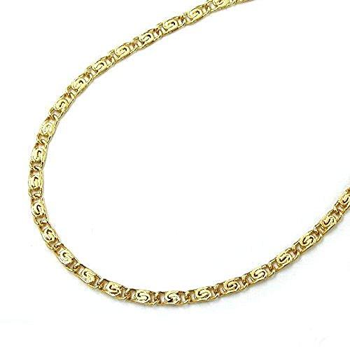 Halskette Kette S-Panzerkette Damen 585 Gold 14 kt verschiedene Längen Breite 1,2 mm, Kettenlänge:45 cm