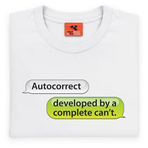Autocorrect T-Shirt, Herren Wei