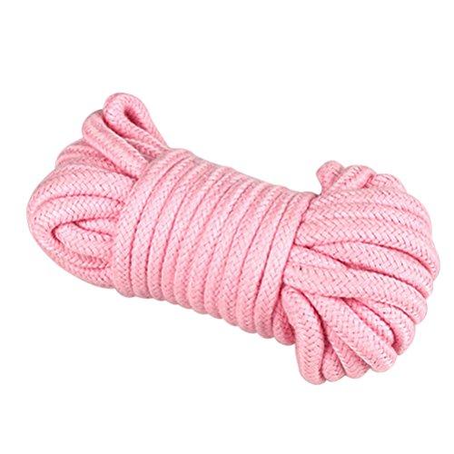 ULTNICE Corda di contenimento corda di cotone morbido corda 5M Coppie Flirtare Giocattoli Corda di ritenuta per gioco per adulti (rosa)