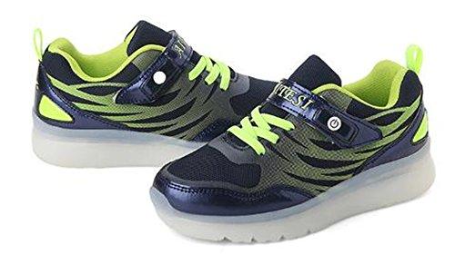 Y.Verve Leuchten Schuhe-blinkende Turnschuhe LED-Schuhe Leuchtende Sportschuhe für Jungen Mädchen leuchten Trainer(Schwarz EU 35)