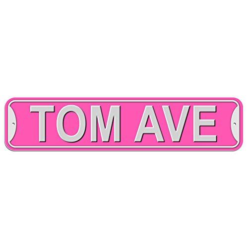 TOM Schild–Kunststoff Wand Tür Street Road Stecker Name, plastik, rose, Avenue
