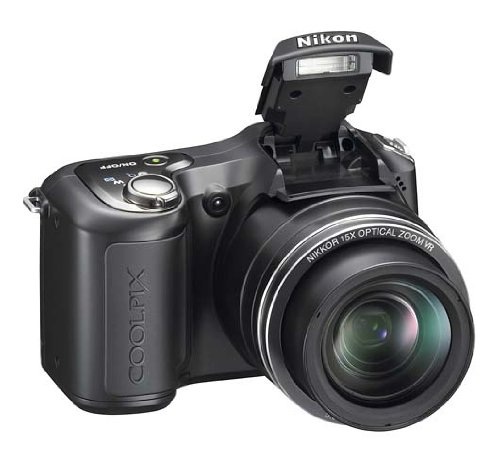 Nikon COOLPIX L100 Digitalkamera (10 Megapixel, 15-fach optischer Zoom, 3' Display) schwarz