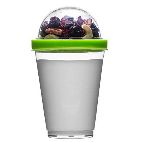 Sagaform Pot de yaourt en plastique polystyrène avec couvercle, Vert