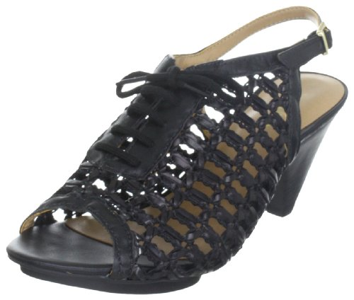 Via Uno Woven Synthetic Leather /Leather Noble 21123504, Sandales femme Noir profond