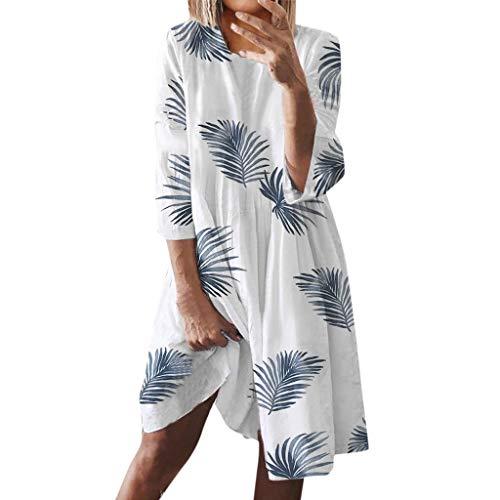 80er Jahre Ideen Für Ausgefallene Kleid - LOPILY Freizeit Kleid Damen Natur Muster