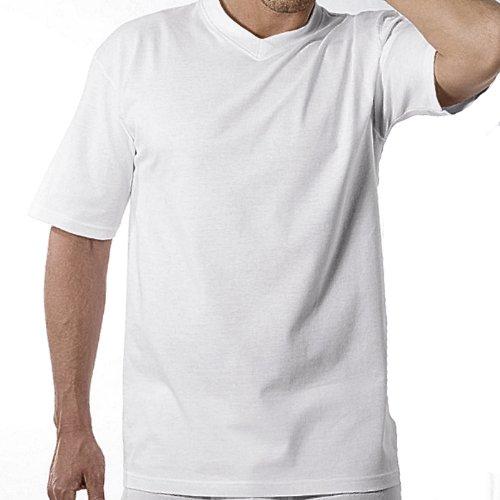4 Götzburg Herren T - Shirts mit V Ausschnitt weiß oder schwarz Weiß