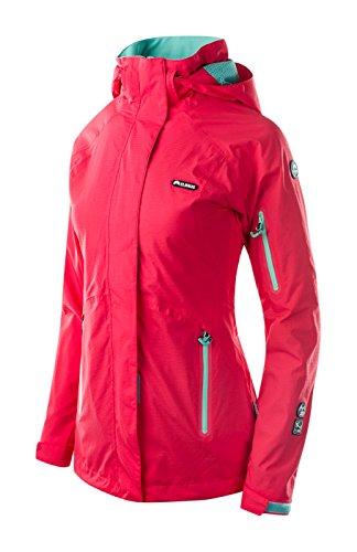 Elbrus Damen Muccia Wo's Light Jacket, Hibiscus/Pool Blue, XL