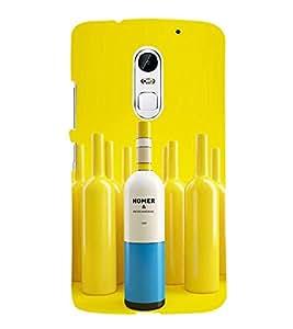 Fiobs Designer Back Case Cover for Lenovo Vibe X3 (Homer Bottle Cork Yellow Botal Cool Alcohol)