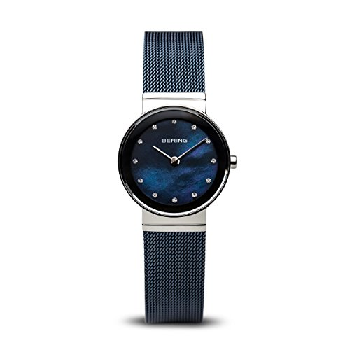 Bering Femme Bleu classique Tone en maille filet montre 10126–307