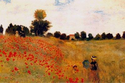 Poster 'Mohnblumen', von Claude Monet, Größe: 91 x 61 cm