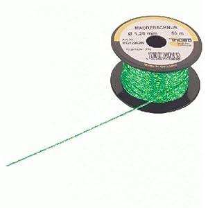 Triuso Cuerda Albañil Verde 1,2mm/50m Polipropileno M M