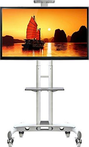 NB AVA1500 blanc - Pied à roulettes réglable pour TV LCD / LED / plasma 81 cm -165 cm (32\\