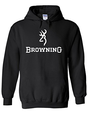 Browning Shotgun Hunting Cool Novelty Black Men Women Unisex Hooded Sweatshirt Hoodie-L (Sweatshirt Browning Baumwolle)