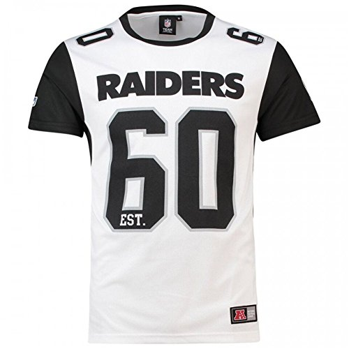Majestic T-Shirt – NFL Oakland Raiders Dene Poly Mesh Weiß/Schwarz Größe: XL (X-Large)