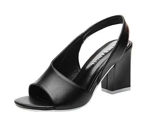 fq-real-womens-trendy-slingback-peep-toe-block-middle-heel-pure-color-sandals-45-ukblack