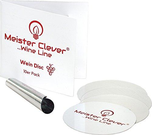 Meister Clever 10er-Pack Wein Disc zum tropfenfrei einschenken | Ausgießer Plättchen |...
