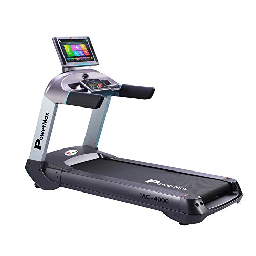 PowerMax Fitness TAC-4000 (6.0 HP) Commercial AC Motorized Treadmill with 18.5inch Colour Touch Screen