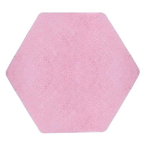 Class-Z Tappeto Esagonale Principessa Tende assorti in Velluto Pad Copertina di Gioco Bambino Cuscino da Arrampicata Tappeto di casa per Tappeto Taglia di bord125cm (Blu) Rosa