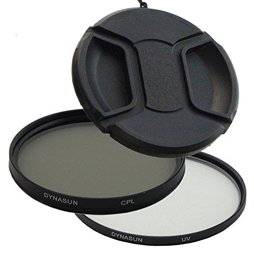 DynaSun Kit Pro 55mm CPL Zirkular Pol mit UV Filter und Objektivdeckel CP05 Schutz-Deckel für Gewinde
