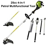 COSTWAT 4-in-1 Petrol Multi Functional Garden Tool Including Hedge Trimmer, Grass Trimmer, Brush