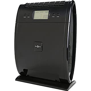 Air Purifier Ioniser 40W Black with Remote Control and HEPA Filter