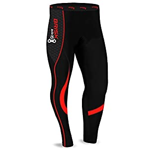 41SINdbLXtL. SS300 Brisk Bike Cycling Tights Padded Winter Thermal Pants Cycle Bicycle Trousers