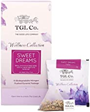 TGL Sweet Dreams Chamomile Tea Bags, 16 Tea Bags Calming Tea, Relieves Soothing Sleep Tea for Stress and Anxie