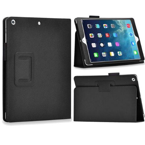 Bingsale Ledertasche Schutzhülle Hülle Tasche Case mit Ständer magnetische Auto Sleep/Wake-Funktion für Ipad Air (Ipad air, schwarz)