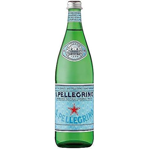 San Pellegrino Agua Mineral Natural Con Gas (750ml) (Paquete de 2)