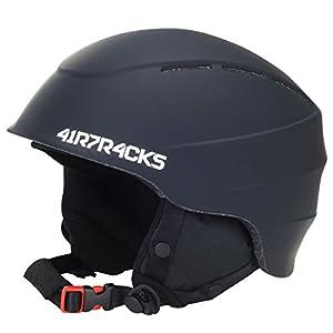 Airtracks Slidinėjimo Šalmas- Snowboardhelm Master T52 mit Ventilationssystem und stufenloser Anpassung/In Mold Ski- Snowboard Helm/Helmet / Weiß Matt oder Schwarz Matt