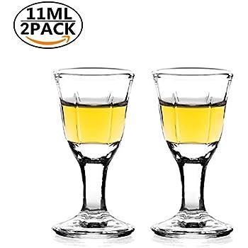 f1788136 2pcs REATR 10ml, 0.4oz Mini Wine Shot Glass Shooter Wine Liquor Spirit Sake  Alcohol